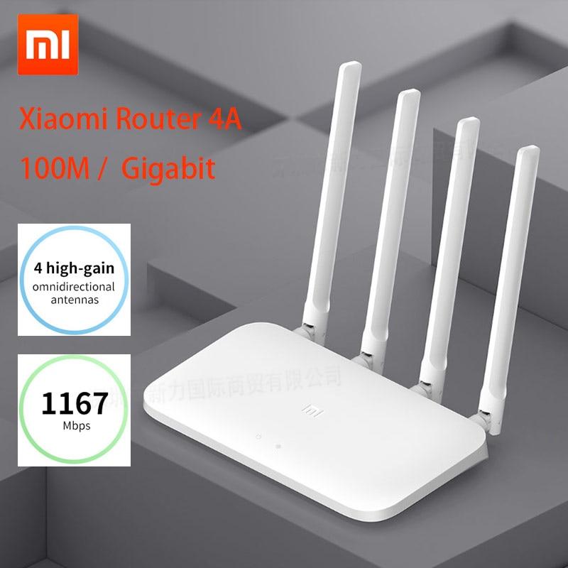 Xiaomi Mi Router 4A Gigabit Edition 100M 2.4GHz 5GHz WiFi 16MB ROM 64MB DDR3 High Gain 4 Antennas Remote APP ControlXiaomi Mi Router 4A Gigabit Edition 100M 2.4GHz 5GHz WiFi 16MB ROM 64MB DDR3 High Gain 4 Antennas Remote APP Control