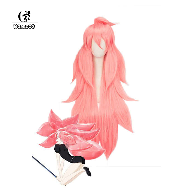 ROLECOS Land of the Lustrous Cosplay Headwear Morganite Cosplay 100cm / 39.37 inches Long Pink Synthetic Hair