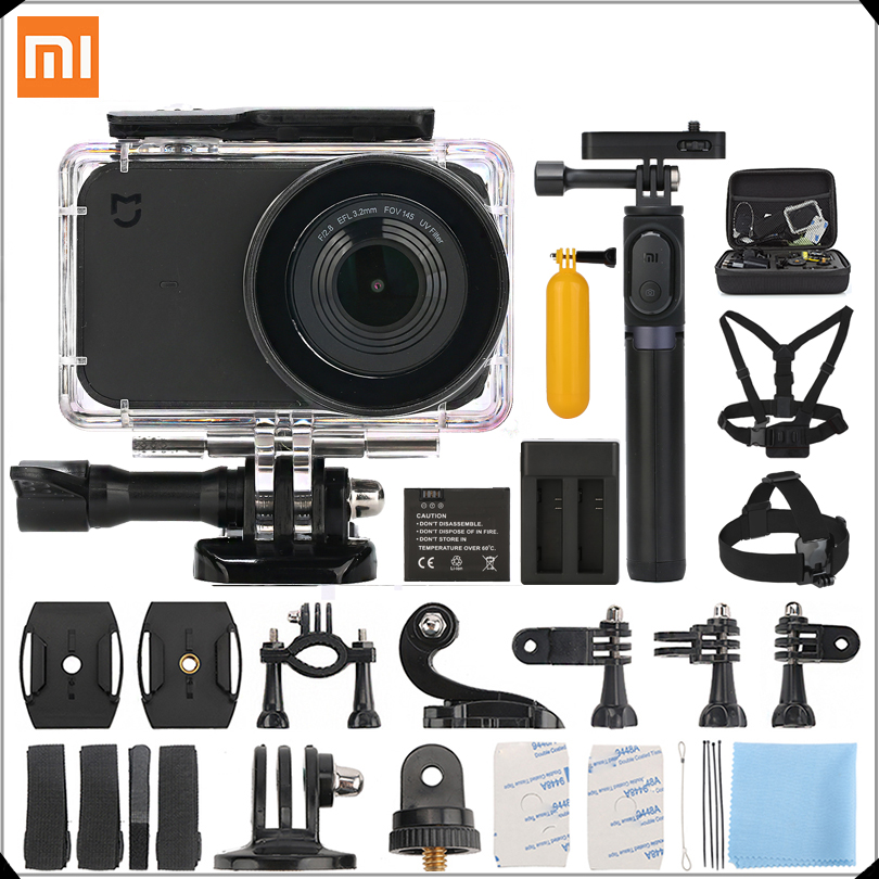 Sport & Action-videokameras Internationalen Version Xiao Mi Mi Mi Jia Action Kamera 4 K/30fps Ambarella A12s75 Wifi Unterwasser Wasserdicht Helm Sport Cam Sport & Action-videokamera