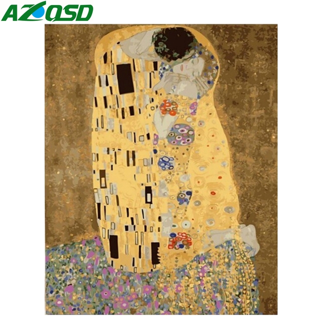 AZQSD Painting By Numbers Frameless 40x50cm Stone Lover Oil Painting Picture By numbers On Canvas Home Decor szyh060