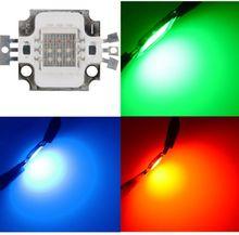 5PCS/Lot  New 10W RGB High Power LED Module LIGHT Lamp Bulb SMD Chip DC 9 11V RED/GREEN/BLUE For floodlight  Led Light