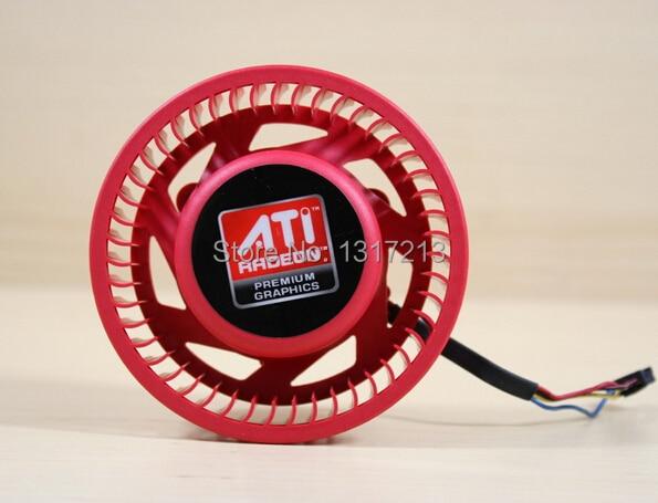 original NTK FD9238H12S 75mm Graphics / Video Card Cooler Fan 37mm 12V 0.8A 4Wire for ATI HD4870 HD4890 HD5850 HD6850 HD6970