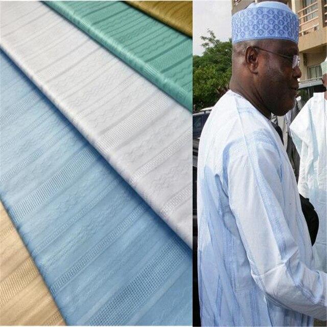 African Atiku Lace Fabric 100% Cotton White Color Atiku  material For Men Garment 10 Yards per piece