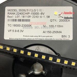 Image 4 - 500 ピース/ロット交換することができる lg 3535 2 ワット 6 12v クールホワイト液晶テレビの修理 led テレビバックライトストリップライト発光ダイオード smd