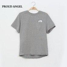 Американский Стиль Cat Напечатаны футболки для Женщин Черный Хлопок Мода Женщина Tee Футболка Женская Мода