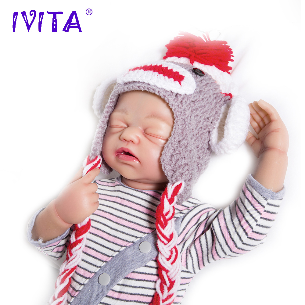 IVITA 56cm Silicon Baby Dolls Newborn Baby Doll Reborn Babies Silicone Doll Child Inner Stainless Steel Skeleton Moveable Doll