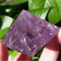 6cm Natural amethyst Quartz Crystal Pyramid Holiday gifts home decor stones and crystals