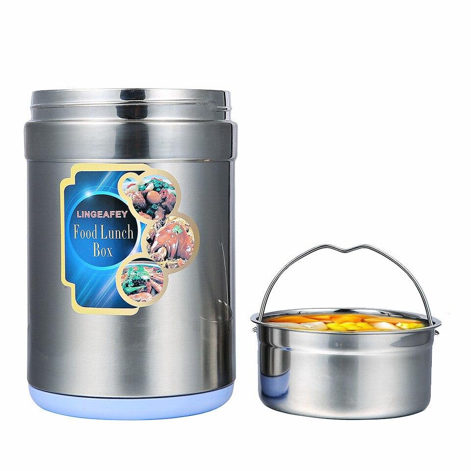 Thermos Flask Container pour Alimentaire Boîte À Lunch Chauffée Sous Vide Alimentaire soupe Container Bento Box Thermique 1.3L 1.0L Nouvelle Boîte À Lunch pour bureau