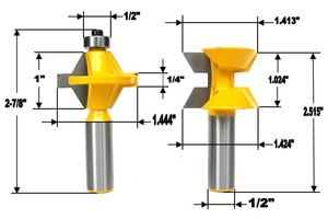 "Image 2 - 2Pcs 1/2"" Shank Router Bit Set 120 Degree Woodworking Groove Chisel Cutter Tool"