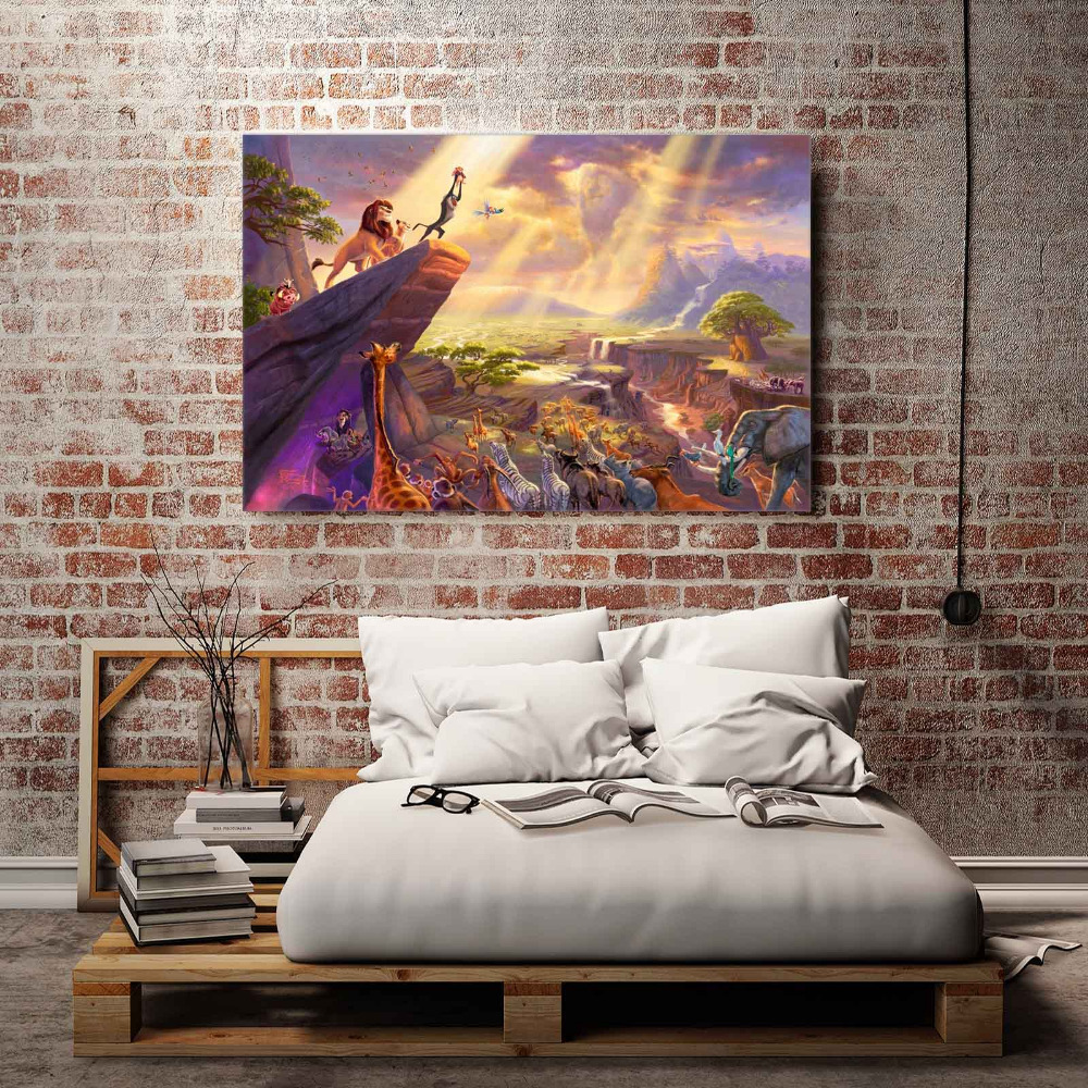 Lion King Wallpaper For Bedroom Aliexpresscom Buy H1215 Thomas Kinkade The Lion King Hd Canvas