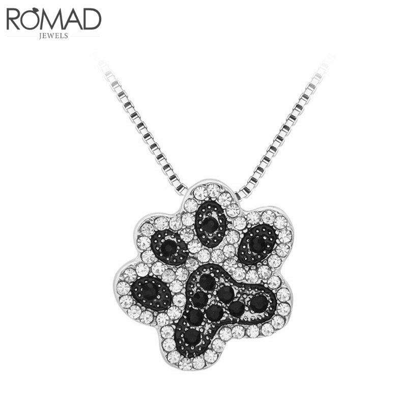 Loyal Gs Hot Creative Black Paw Claw Dogs Kitten Cat Pendant Necklace Feet Footprint Necklace Jewelry Lovers Valentine's Day Gift R4 Drip-Dry
