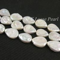 Hurtownie Słodkowodne Pearl Ivory Biały Shap Teardrop Luźne Koraliki 11-12mm 25 sztuk 15
