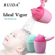 Cartoon Baby Shower Bath Water Scoop Cute Animal Spoon Children Wash Hair Cup Shampoo Bailer Flower Head Floating Toy