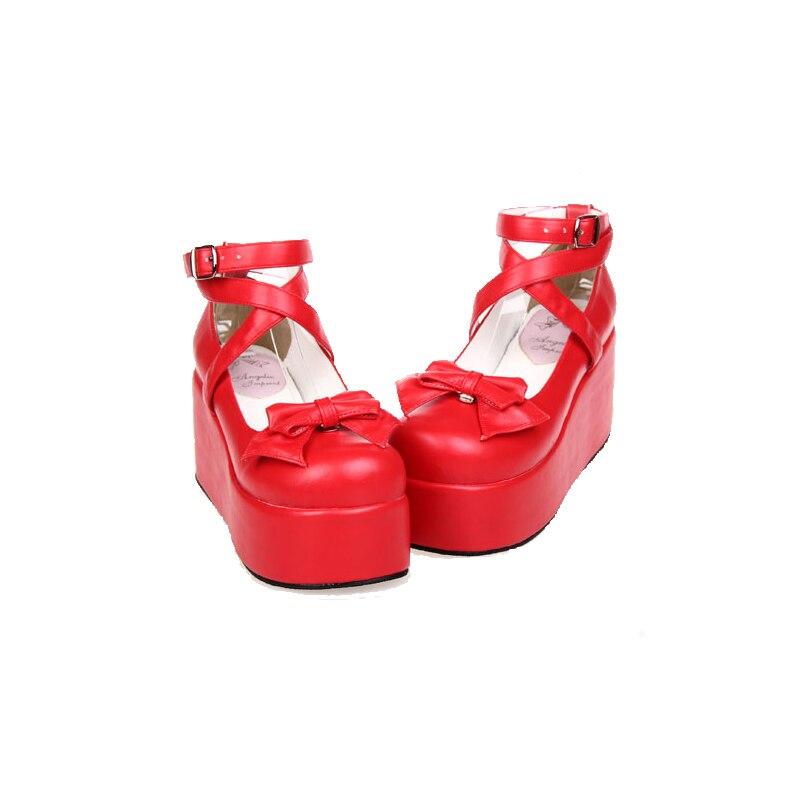 Cm Arco Cuñas Lolita Mori 8 Mujeres Chica Señora Bombas La Mujer Vestido 33 Angelical Fiesta Zapatos Imprimir 47 Alta De Princesa Cosplay Las 1xPSnBfw