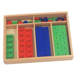 Image 2 - New Arrival Montessori วัสดุไม้ของเล่นแสตมป์เกมขนาดใหญ่ Beech ไม้คณิตศาสตร์ของเล่นเด็ก Early การศึกษาเด็กของขวัญวัน