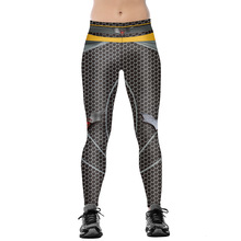 Women Batman v Superman Thematic Fitness Leggings Elastic Fiber Hiphop Party Cheerleader Rooter Workout Pants Trousers