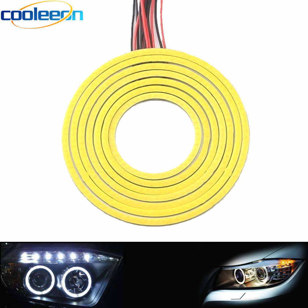 2pcs Angel Eye LED DRL Light Bulb White Color 6CM 7CM 8CM 9CM 10CM 11CM 12CM Diameter Round COB LED Lamp for Car Decor Fog Light