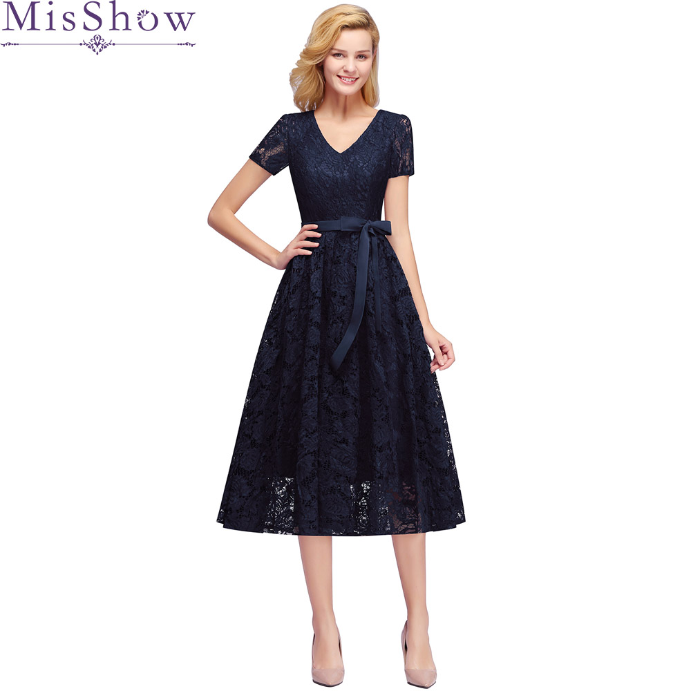 Cocktail     Dresses   elegant formal Prom party   dress   A-Line Navy Blue lace Women 2019 Short Vestidos Sexy Women Homecoming   Dresses