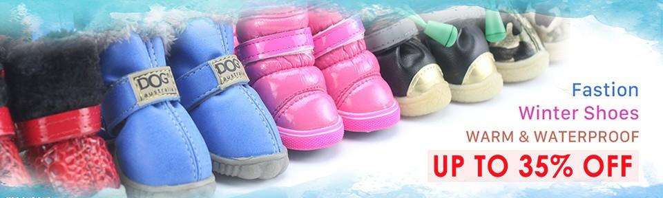 PETASIA Pet Dog Shoes Winter 4pcs set Small Medium Dogs Boots Cotton Waterproof Anti Slip XS XL Shoes for Pet Product ChiHuaHua 960