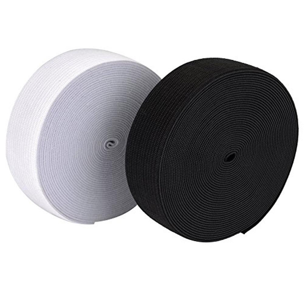40 Metres Long 25mm Wide Flat Elastic Bands Elastic Cord Spool Sewing Bands DIY Sewing Craft Accessories