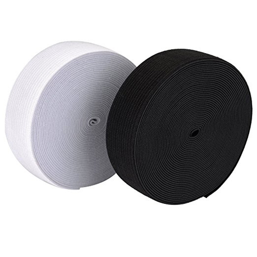 40 Metres Long <font><b>25mm</b></font> Wide Flat <font><b>Elastic</b></font> Bands <font><b>Elastic</b></font> Cord Spool Sewing Bands DIY Sewing Craft Accessories image