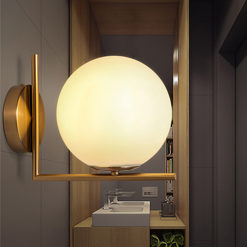 Led E14 Nordic Alloy Glass Led Lamp Led Light Wall Lamp Wall Light Wall Sconce Outdoor Lamp For Foyer Bedroom Corridor