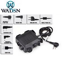 WADSN Airsoft SELEX TACMIC CT5 PTTการล่าสัตว์หูฟังยุทธวิธีMidland KENWOOD IPSC Ptt Z133 Softailชุดหูฟังอุปกรณ์เสริม