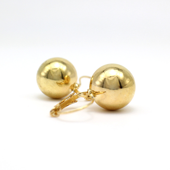 2019 New Fashion Gold color Ball Earrings Simple Metal Round Ball Stud Earrings For Woman Party Wedding Jewelry Femme Brincos 4