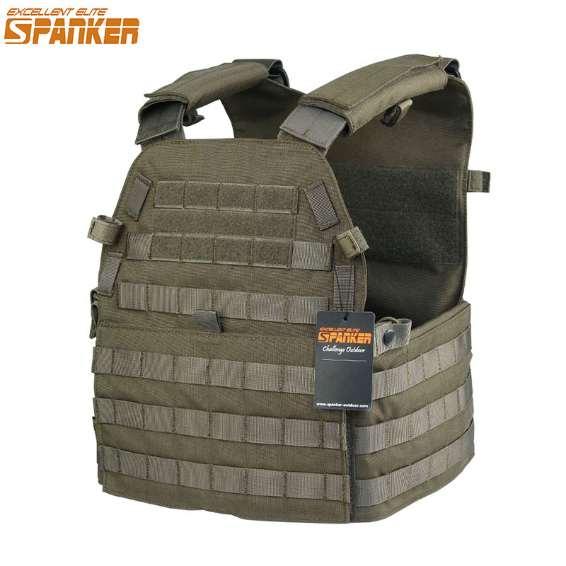 EXCELLENT ELITE SPANKER Military Combat Nylon Men 6094 Camo Hunting Vest Outdoor Tactical Equipment Assault Training Molle Vests spanker 1000d camouflage tactical molle tank mechanic chef cooking grilling apron army training hunting waterproof nylon vest
