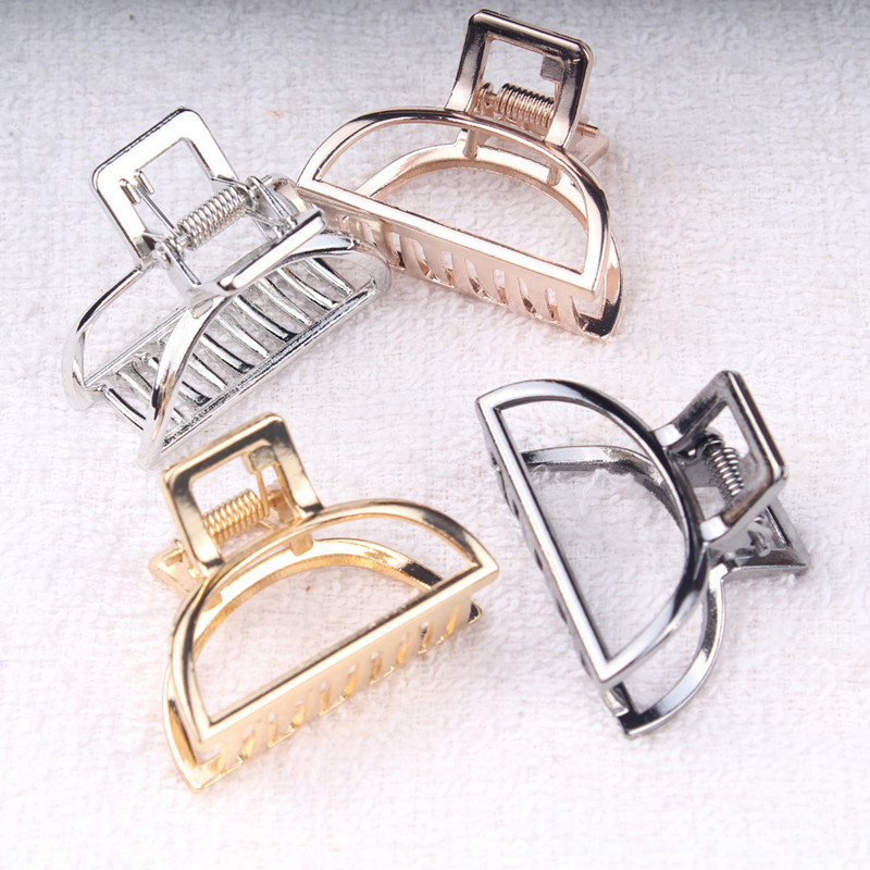 1Pcs Hair Accessories For Women Metal Modern Stylish Hair Claw Hair Clips Bun Pony Tail Holder Washing  Beauty Salon Hair Pin