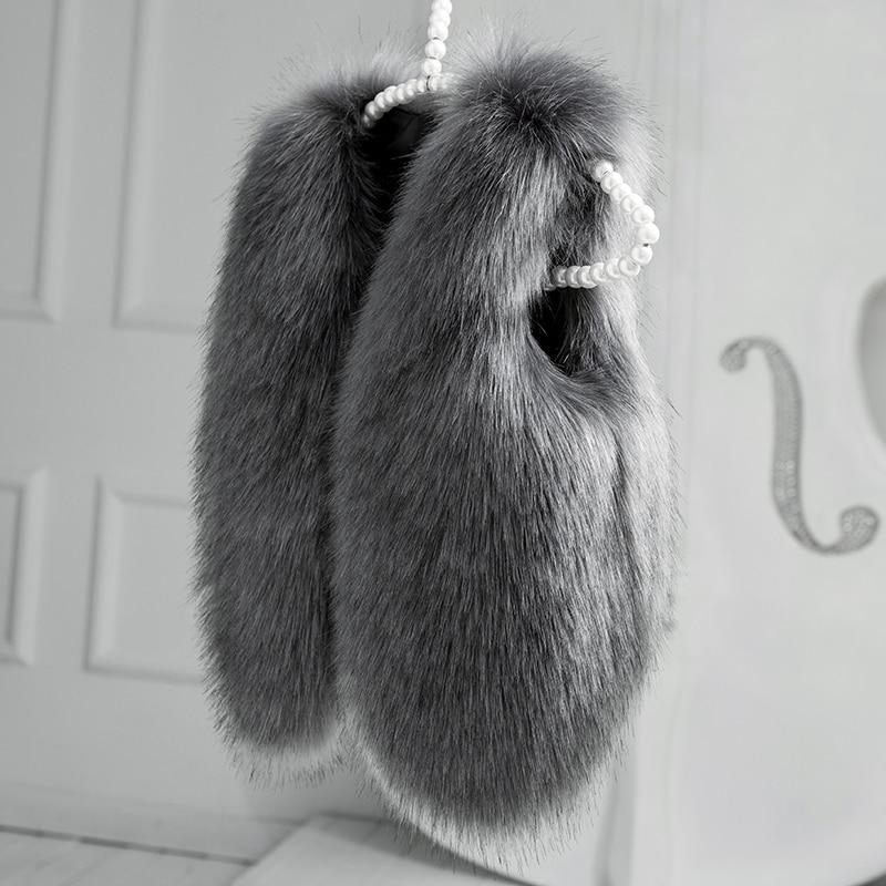 2018 Jul Vinter Faux Fur Barn Jenter Vest Mote Barneklær Baby Toddler Veste Coat Boys Clothes Pink Black