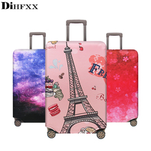 DIHFXX New Elastic Fabric Luggage Protective Cover Suitable18-32 Inch Trolley Case Suitcase Dust Cover Travel Accessories  DX-34 недорого