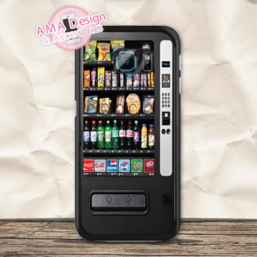 Snack Drinks Vending Machine Case For Samsung Galaxy S9 S8