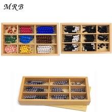 Деревянный Игрушечные лошадки Монтессори деревянная игрушка Checker Board Бусины Математические игрушки раннего детства Дошкольное обучение обучения