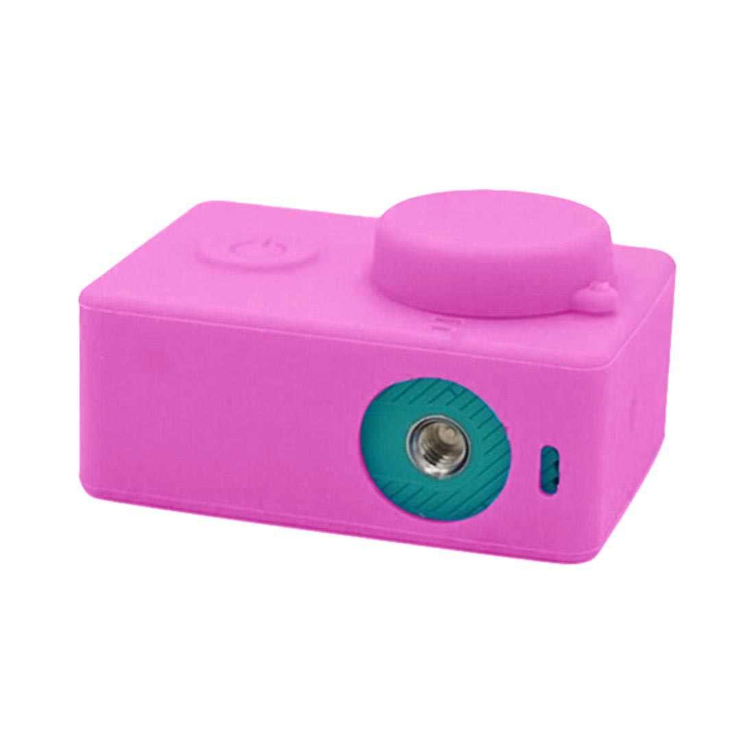 Gosear Silicone Bảo Vệ Tấm Bảo Vệ Ốp Lưng Vỏ Da Nắp Đậy Ống Kính Cho Yi 4 K XiaoYi 2 II Nồi Cơm Điện Từ 4 K camera Hành Động Phụ Kiện