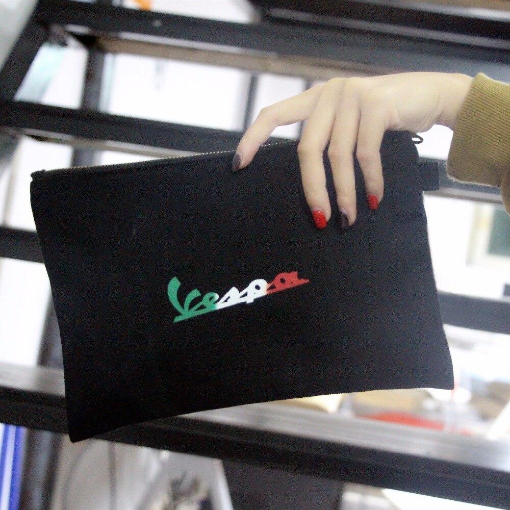 KODASKIN Ladies Women Vespa Printed Vintage Canvas Tote Clutch Bag Sleeve Bag ...