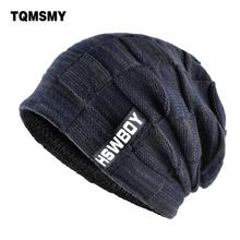 TQMSMY Brand bone mens Winter Hat knitted wool beanies men Hip-Hop capTurban Caps Skullies Balaclava Hats For women gorros cheap Skullies Beanies Adult Unisex Acrylic Casual Plaid 56-59cm