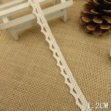 HOT SALE 20 yards 1.2cm width Beige Color lace fabric ribbon border trim DIY sewing material accessories free shipping