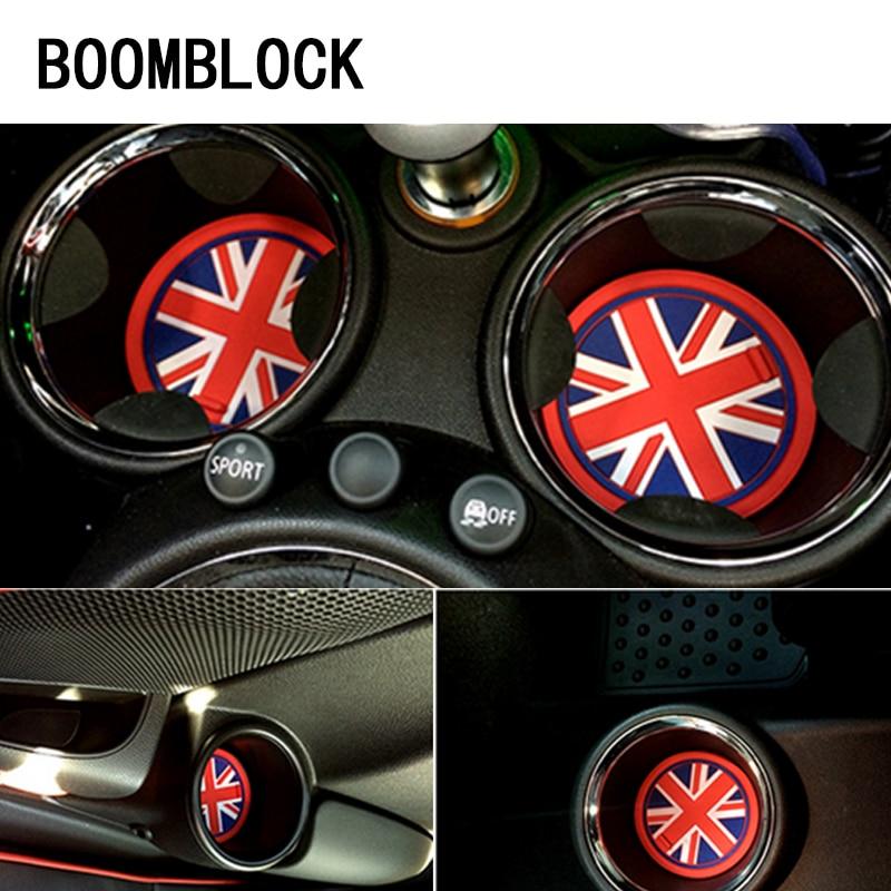 Interior Accessories Brave New Pattern 2pcs Car Led Light Lamp Cup Holder Mat Pad Bottle Built-in Car Styling For Mini Cooper S R50 R53 R56 R60 F55 F56 R57 Low Price