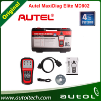 Autel Maxidiag Elite MD802 4 IN 1 OBD Code Scanner MD 802 Can Test Cars 4 Basic Systems +DS model+Oil Service Reset