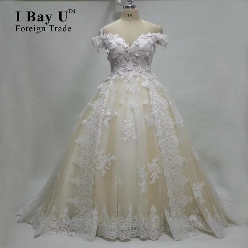 100 real photo off white blush wedding dress 2017 elegant tulle lace wedding dresses cap
