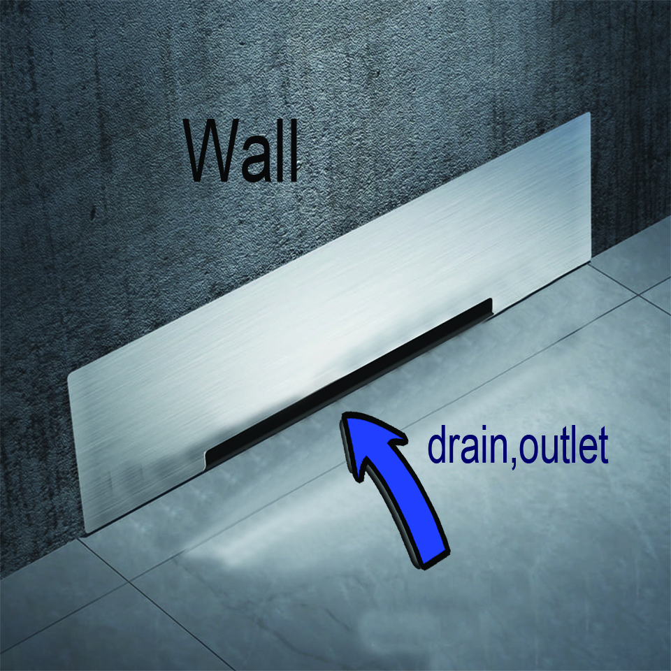 Wall Drain floor Large Traffic SUS304 30cm Drainer Bathroom Shower Drainage Waste Drain Big Flow Rate Refuse Nasty Smell Drains wall drainage large traffic stainless steel 30cm bathroom surface titanium gold floor drain big flow rate refuse nasty smell