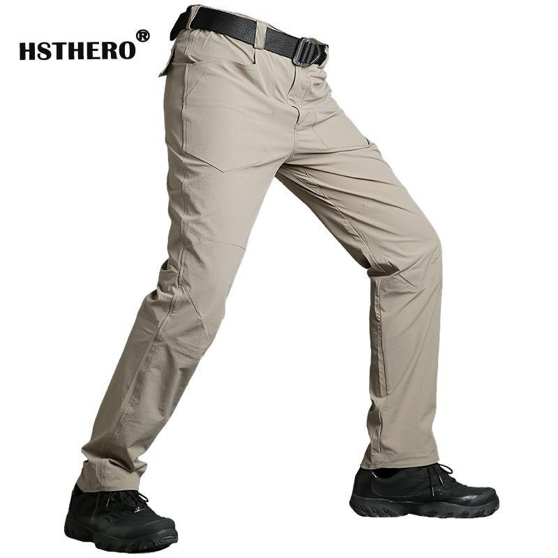 Casual Army Tactical Men's Long Pants Waterproof Men Khaki Elastic Trousers Many Pockets Male Cargo Pants Green Grey Clothes