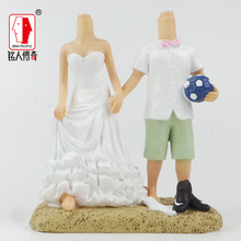 Wedding Cake Topper wedding gift custom avatar personality custom real doll custom clay dolls fixed resin body SR218