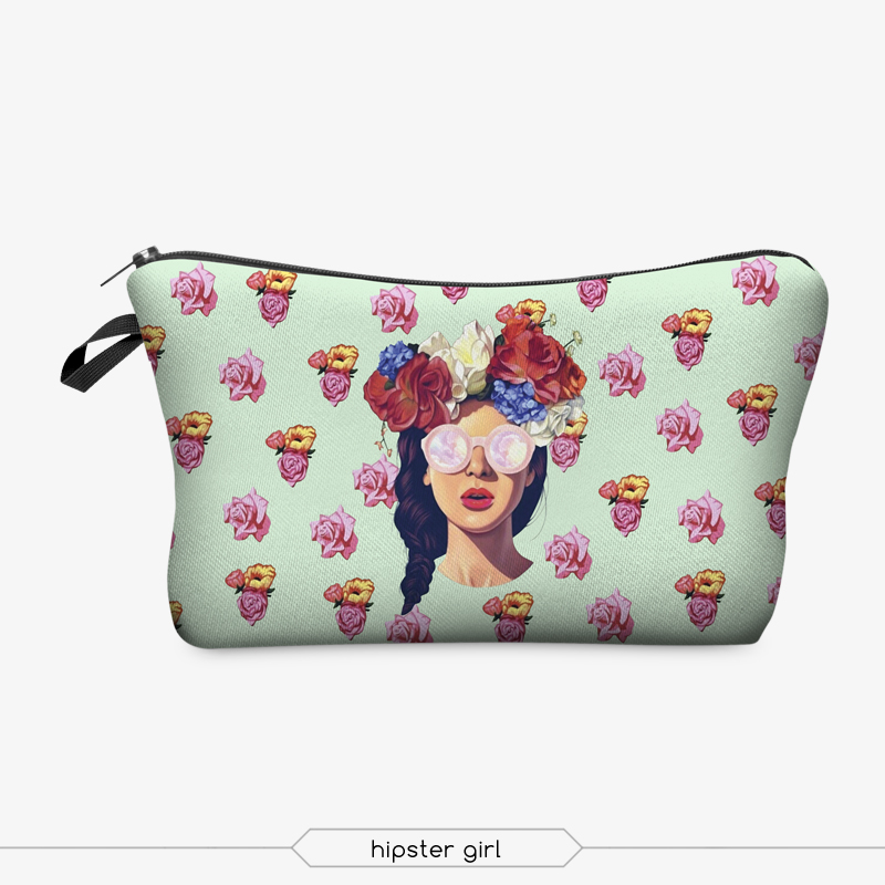 Jom Tokoy 3D Printing Makeup Bags With Multicolor Pattern Cute Cosmetics Pouchs For Travel Ladies Pouch Women Cosmetic Bag 6