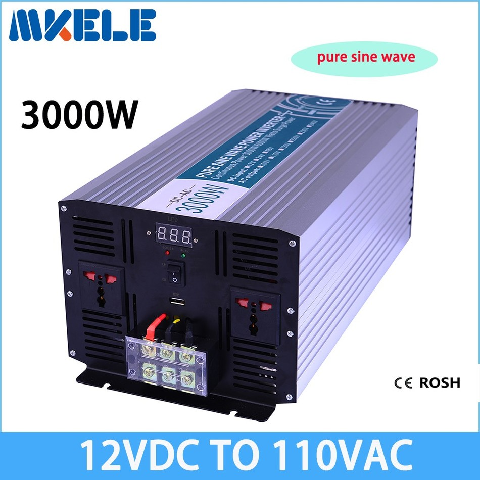 MKP3000-121 12v to 110v inverter 3000w 12v 110v off grid pure sine wave voltage converter solar inverter,LED Display mkp3000 122 off grid pure sine wave inverter 12v to 220v 3000w solar inverter voltage converter solar inverter led display