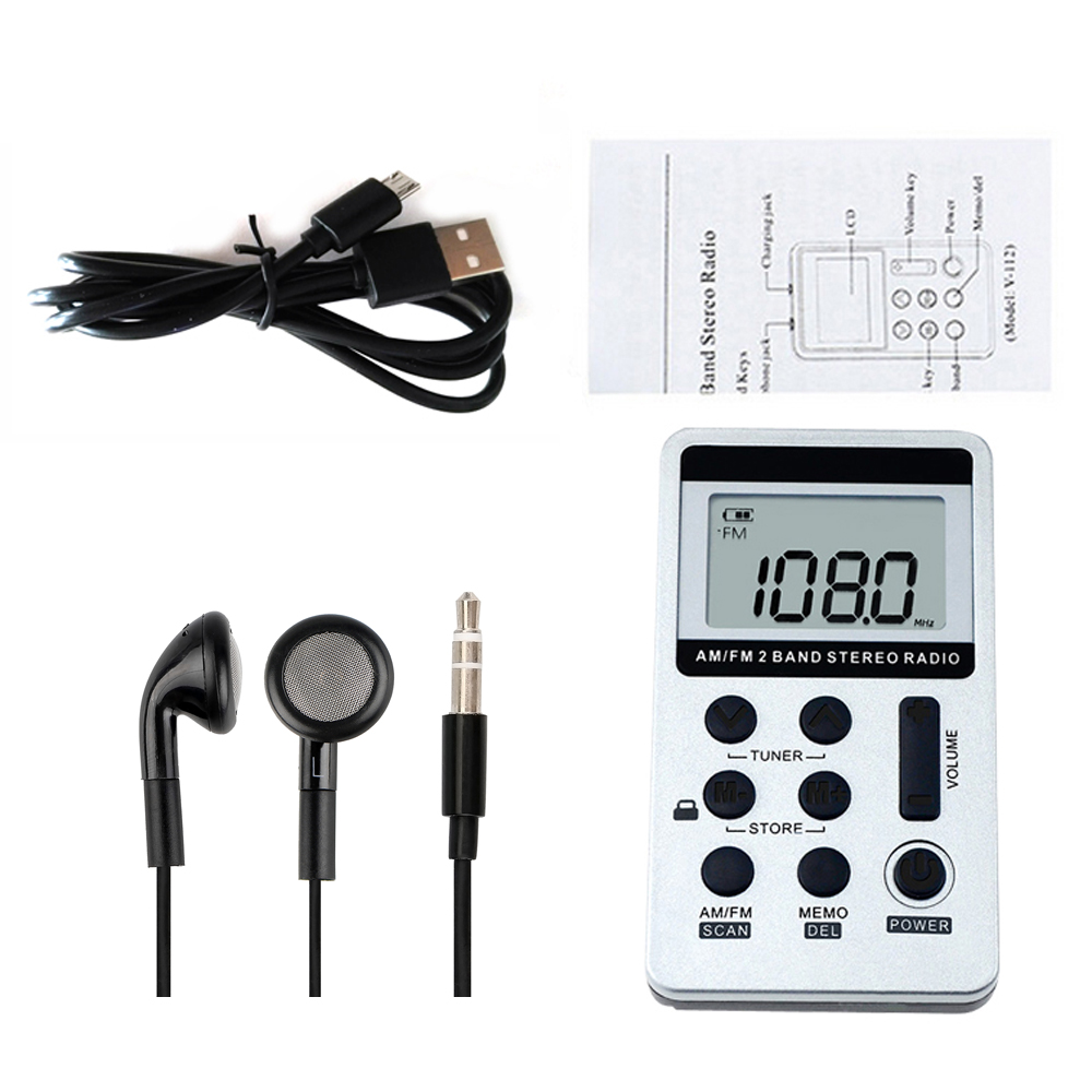 Ausdrucksvoll Hanrongda Hrd-103 Am Fm Digital Radio 2 Band Stereo Empfänger Tragbare Tasche Radio W/kopfhörer Lcd Screen Mit Kopfhörer Elegant Im Geruch Unterhaltungselektronik