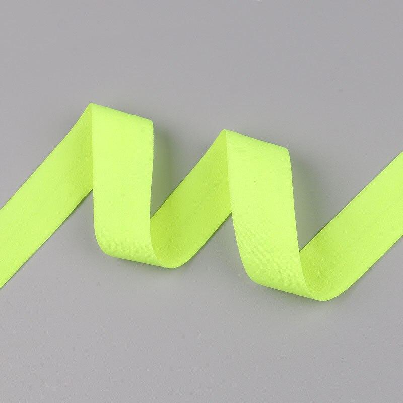 5 ярдов/Лот 20 мм ширина 34 цвета эластичная лента использование для diy аксессуары и одежда галстук лента для волос - Цвет: 04