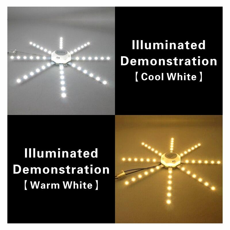 Купить с кэшбэком LED Ceiling Lamp Octopus Light 12W 16W 20W 24W LED Light Board 220V 230V 5730SMD Energy Saving Expectancy LED Lamp