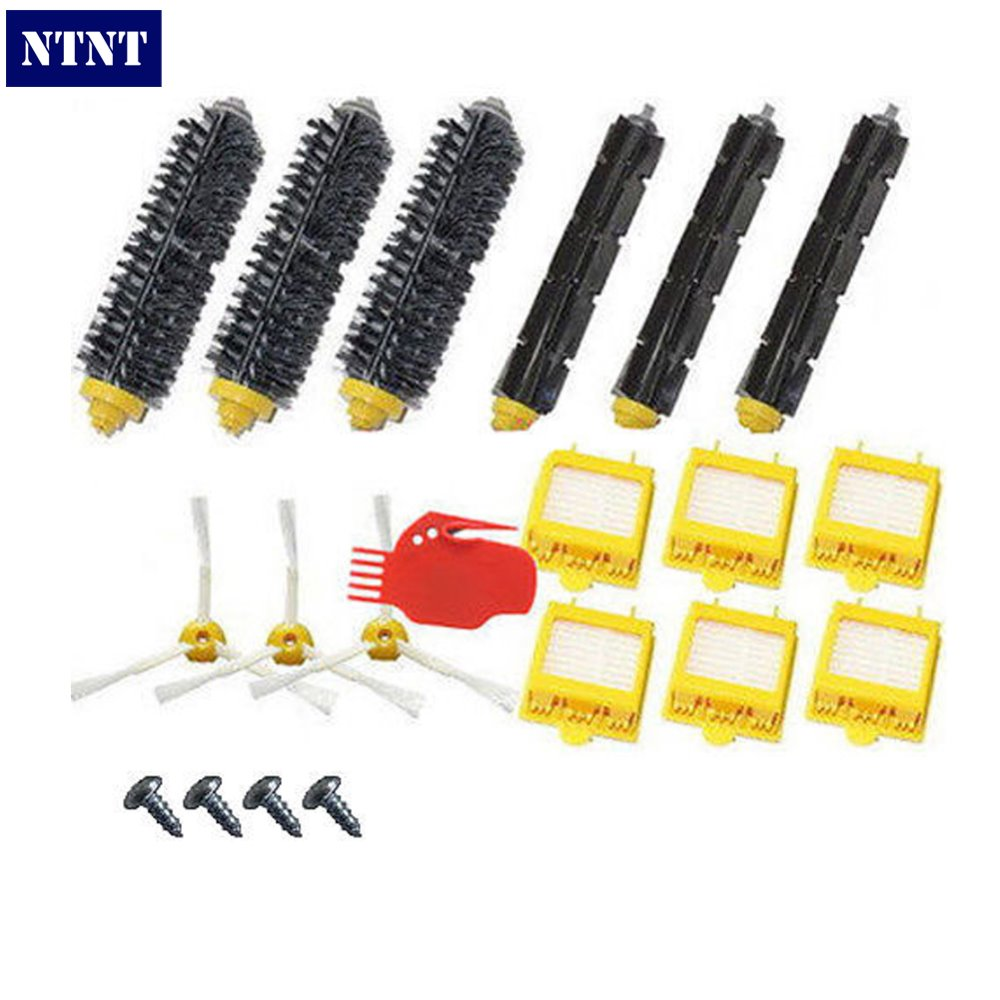 NTNT Free Post New Hepa Filters 760 770 780 Series & Brush Pack Kit 3 Armed For iRobot Roomba 700 Series free post new filters yellow hepa filter and side 3 armed brush for irobot roomba 700 series 760 770 780 790 cleaner tools set